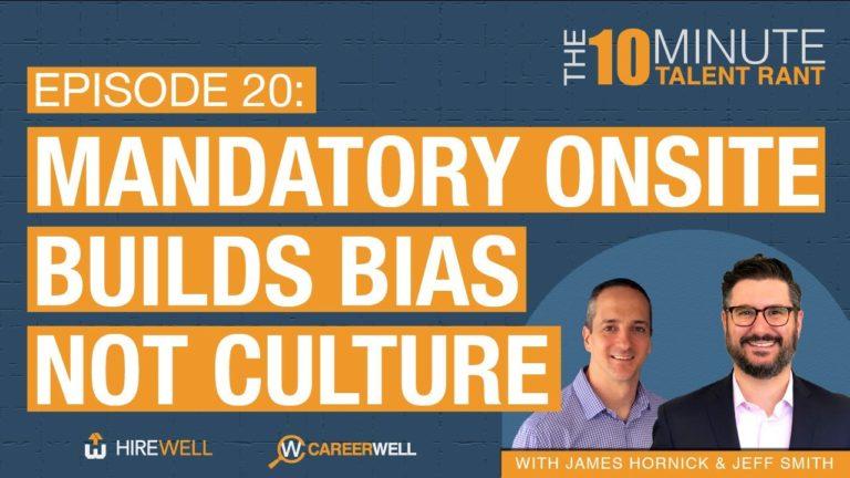 Mandatory Onsite Builds Bias Not Culture